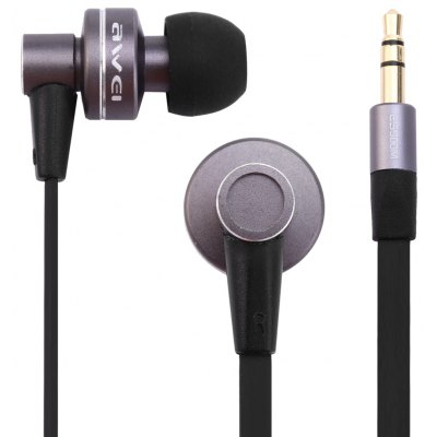 Awei ES900M 1.2m Flat Cable Design Super Bass In Ear Headphones for Smartphone Tablet PC