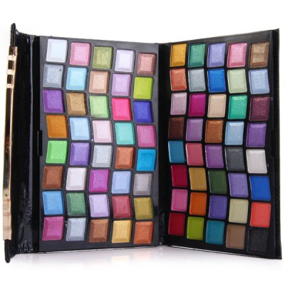 YF - R5029 80 Colors Eyeshadow Make - Up Kit Cosmetic Set Leather Clutch Bag