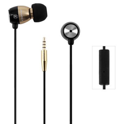 Awei ESQ38i 1.2m Cable In - ear Earphone with Mic for Smartphone Tablet PC