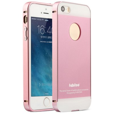 Fabitoo Frame Style Aluminium Alloy Bumper with PC Back Case for iPhone 5 5S