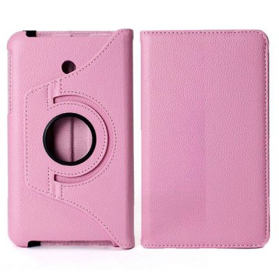 360 Degree Rotating Litchi Pattern Elastic Belt Stand Leather Case for ASUS Fonepad 7 FE7010CG