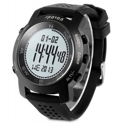 Spovan Military Digital Climbing Mountaineering Watch Thermometer Altimeter