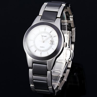 ShiLonG 8055L Water Resistant Japan Quartz Watch Date Display Shell Dial for Women
