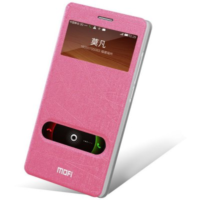 Mofi Phone Cover PU Case Skin with Window Stand Function for Xiaomi Redmi Note
