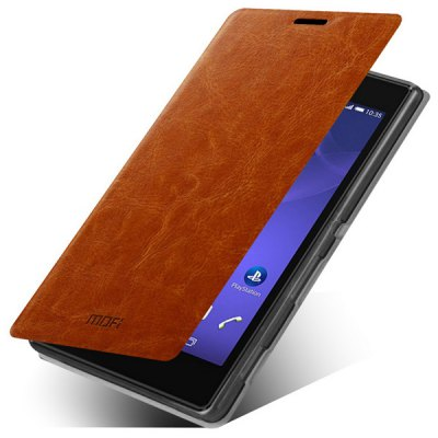 Mofi Phone Cover PU Case Skin with Stand Function for Sony Xperia T3