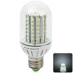 E27 600Lm 5.5W 90 x SMD 3528 6000 - 6500K LED Corn Light with Translucent Cover
