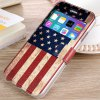 cheap Fashionable Stars and Stripes Pattern PU and TPU Case Cover for iPhone 6  -  4.7 inches