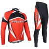Arsuxeo ZLS06V Men Cycling Suit Jersey Jacket Pants Kit Long Sleeve Bike Bicycle Outdoor Running Clothes photo