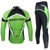 best Arsuxeo ZLS06V Men Cycling Suit Jersey Jacket Pants Kit Long Sleeve Bike Bicycle Outdoor Running Clothes