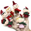 6pcs Happy Family Finger Puppets Story Cute Cloth Doll Baby Educational Toy for sale