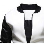 Stylish Stand Collar Slimming Large Pocket Zipper Design Long Sleeve Polyester Jacket For Men deal