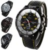 best Weijieer 5020 Analog Quartz Watch Rubber Band Round Dial for Men