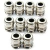 cheap High Performance DIY PG11 Metal Water Resistant 6  -  10mm Connectors Cable Glands  -  10PCS