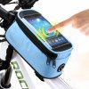 Roswheel Water Resistant Bicycle Touch Screen 4.2 inch Phone Saddle Bag Holder Handlebar Cellphone Pack with Earphone Hole deal
