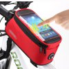 cheap Roswheel Water Resistant Bicycle Touch Screen 4.2 inch Phone Saddle Bag Holder Handlebar Cellphone Pack with Earphone Hole