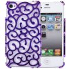 Hollow - out Style Protective Back Cover Case with Plastic Material for iPhone 4 / 4S