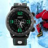 best S - 1039 Decorative Sub - dial Sports Watch with Large Dial Bright Color Leather Band
