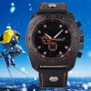 S - 1032 Decorative Sub - dial Sports Watch with Large Dial Bright Color Leather Band deal