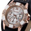 Readeel 333 Diamond Quartz Watch Round Dial Leather Strap for Ladies for sale
