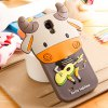 Fabitoo 3D Cartoon Cow Phone Case Silicone Cover for Samsung S4 i9500