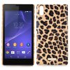 Buy Carbon Fiber Pattern Hard Case Leather Coated Phone Cover Sony Xperia T3 M50W / D5102 D5103 D5106