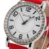 Miler A1026 Women Quartz Watch with Diamond Round Dial Leather Strap for sale