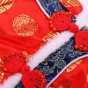 Festival Pet Clothes Chinese New Year Tang Suit Holes for Doggy photo