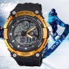 SanDa 709 Military Dual - movt Watch Water Resistant Muliti - function LED Watches for Outdoor Sports for sale