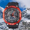 SanDa 709 Military Dual - movt Watch Water Resistant Muliti - function LED Watches for Outdoor Sports deal