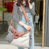 Trendy Color Block and Canvas Design Women's Tote Bag deal