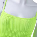 Fashionable Round Collar Solid Color Crumple Sleeveless Women's Maxi Dress photo
