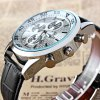 Valia 8257 - 2 Analog Quartz Watch Date Leather Band Round Dial for Men deal
