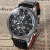 best Valia 8257 - 2 Analog Quartz Watch Date Leather Band Round Dial for Men