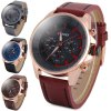 cheap Curren 8187 Men Quartz Watch Analog Wristwatch Leather Band