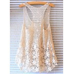 cheap Crochet Floral Lace Tank Top