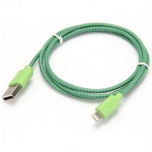 1m Woven Design 8pin Data Sync / Charging Cable