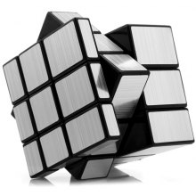 Shengshou Challenging 3 x 3 x 3 Brushed Silver Cube Puzzle Toy