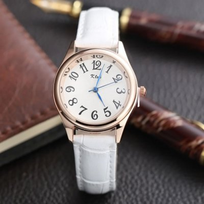 Гаджет   Klok Analog Quartz Watch Arabic Numerals Display Leather Strap for Ladies Women Women