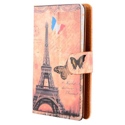 ФОТО Universal Magnetic Flip Stand Eiffel Tower Pattern Leather Case for 7 inch Tablet PC