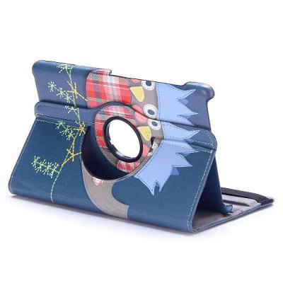 Фотография 360 Rotation Elastic Belt Flip Stand PC + PU Leather Cover with Owl Pattern for Samsung Galaxy Tab S 8.4 T700 T705