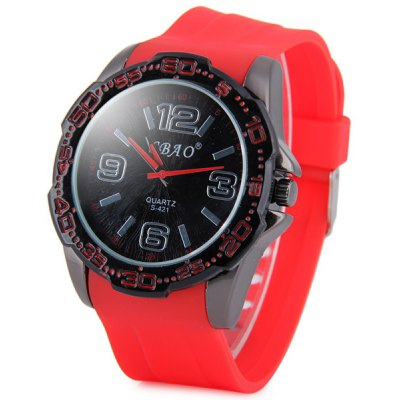 S - 421 Large Dial Soft Rubber Band Sports Watch