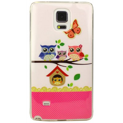 Fashionable Owl Pattern TPU Material Back Case for Samsung Galaxy Note 4 N9100