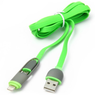 2 in 1 Micro 5Pin 8Pin USB Flat Noodle Cable