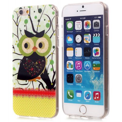 Shimmering Powder Owl Pattern TPU Material Back Case for iPhone 6  -  4.7 inches