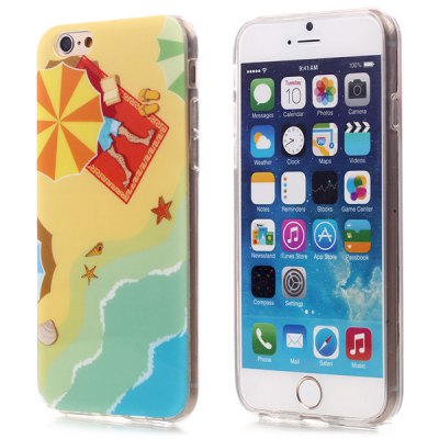 ФОТО Ultrathin Beach Pattern TPU Material Back Case for iPhone 6  -  4.7 inches