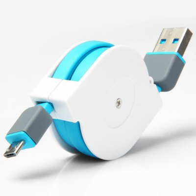 Гаджет   2 in 1 Micro 5Pin 8Pin Scalable USB Cable with Data Transfer / Charging Function for iPhone 6 6 Plus 5S 5C Phone Cables & Connectors