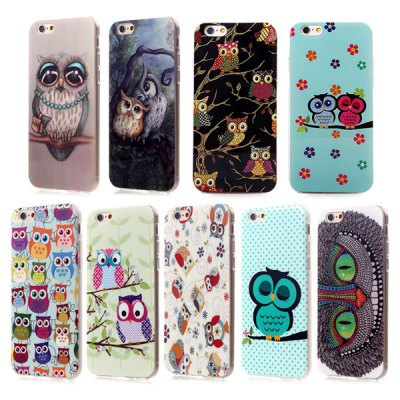 ФОТО Ultrathin Owl Pattern TPU Material Back Case for iPhone 6 / 6S - 4.7 inches