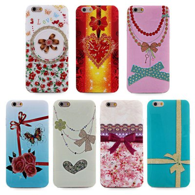 ФОТО Ultrathin Bowknot Pattern TPU Material Back Case for iPhone 6  -  4.7 inches