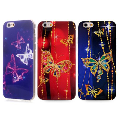 ФОТО Ultrathin Butterfly Pattern TPU Material Back Case for iPhone 6  -  4.7 inches