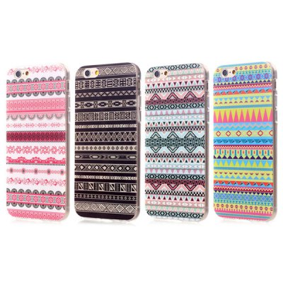 Ultrathin Ethnic Pattern TPU Material Back Case for iPhone 6  -  4.7 inchesiPhone Cases/Covers<br>Ultrathin Ethnic Pattern TPU Material Back Case for iPhone 6  -  4.7 inches<br><br>Compatible for Apple: iPhone 6<br>Features: Back Cover<br>Material: TPU<br>Style: Pattern, Vintage<br>Color: Black, Pink, Blue, Green<br>Product weight : 0.020 kg<br>Package weight : 0.040 kg<br>Product size (L x W x H): 14 x 7 x 1 cm / 5.50 x 2.75 x 0.39 inches<br>Package size (L x W x H) : 15 x 8 x 2 cm / 5.90 x 3.14 x 0.79 inches<br>Package contents: 1 x Case